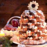 Pandoro con crema al mascarpone a forma di albero di Natale 2
